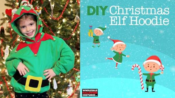 No-Sew Elf Hoodie DIY Tutorial