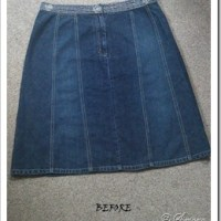 Jeans Skirt re-sizing