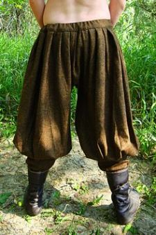 1560s Russian Pants Back View