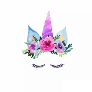Vinyltryck unicorn eyes rosa liten 10x9