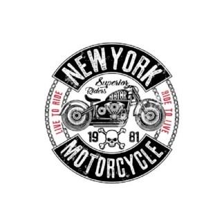 Vinyltryck new york motorcycle 12x13