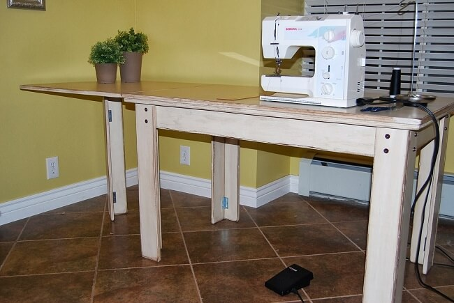 How to make a drop in sewing table watchthetrailerfo