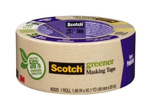 3M Scotch Masking Tape for Basic Painting, 1.88-Inch
