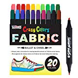 Super Markers 20 Unique Colors Dual Tip Fabric by US Art Supply