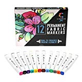 Fabric Markers with Permanent Brilliant Colors By Creative Joy