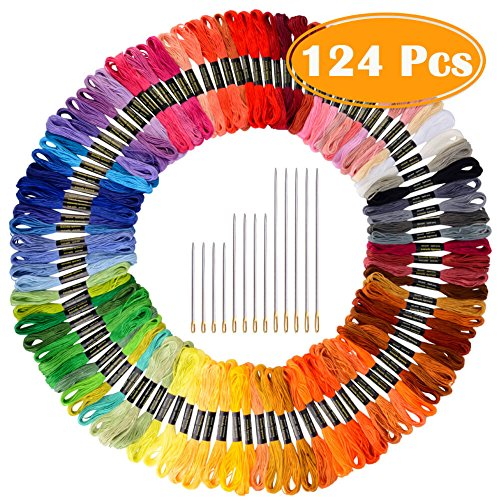 Paxcoo 124 Skeins Embroidery Floss