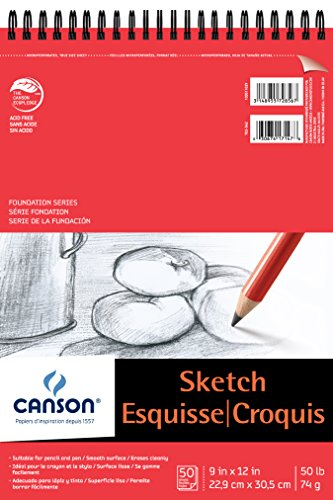 Canson Foundation Series Paper Sketch Pad for Pencil or Pen
