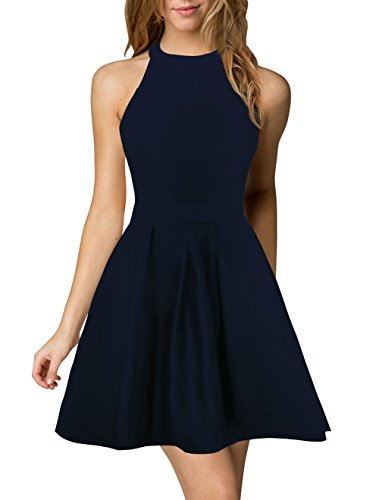 Berydress Halter Neck Backless Cocktail Party Dress