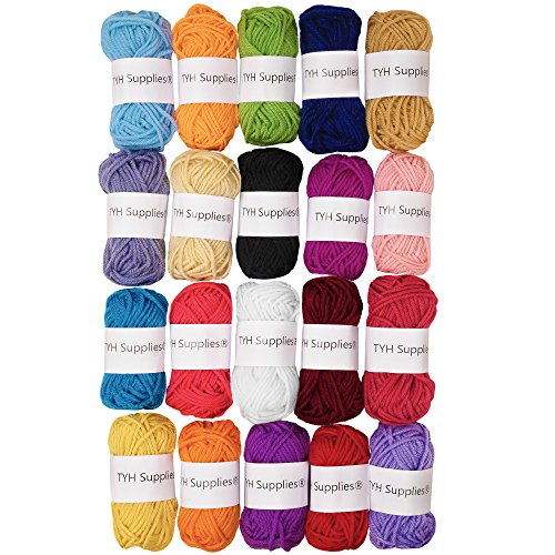 TYH Supplies 20-pack 22 yard Acrylic Yarn