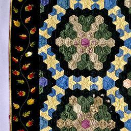 1840-1860 Cotton Silk quilt ภาพจาก Smithsonian