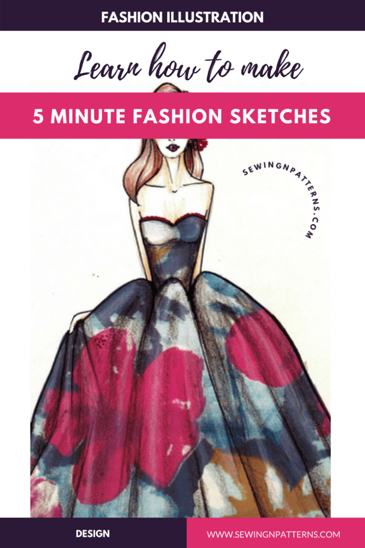 fashion sketching made easy 5 minute fashion sketches sketchin5
