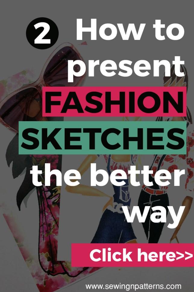 how to draw fashion sketches, fashion illustration techniques, fashion design.