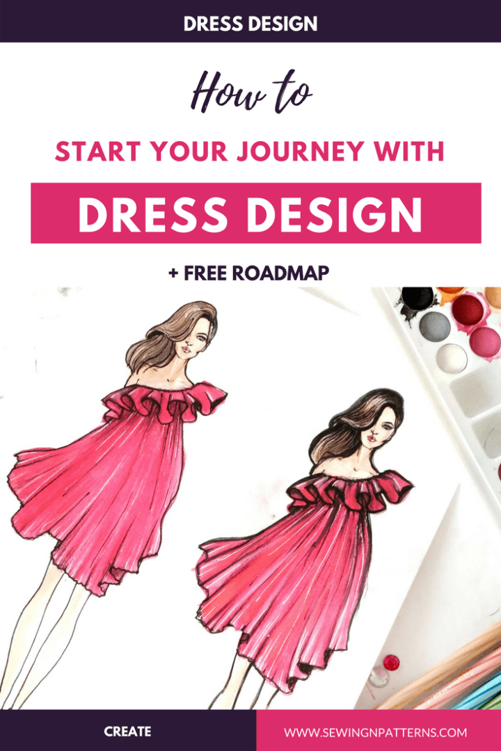 Learn the step by step process of dress design and Grab your Free Download. (dress design, dress making for beginners, dress making step by step, sewing for beginners, dress making tutorials)