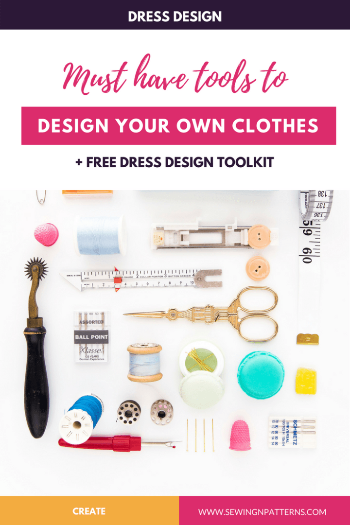 Dress Design Tools kit: Musk have tools to create your own clothes