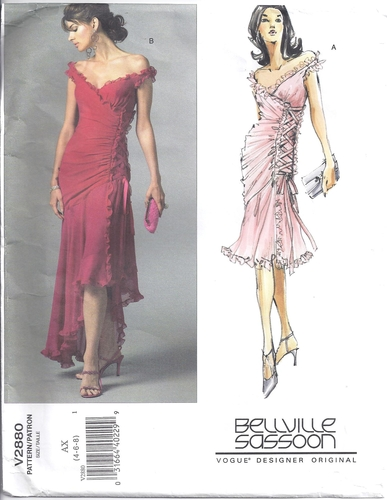 Vogue Pattern 2880 Designer Evening Dress Size 4,6,8 ...
