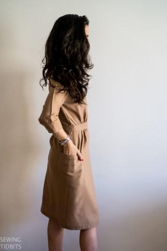 Just Patterns Linda wrap dress by Sewing Tidbits
