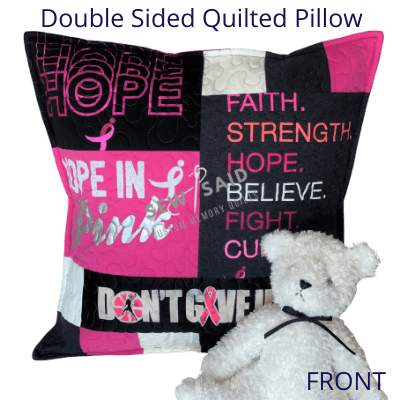 collage memory t shirt pillow