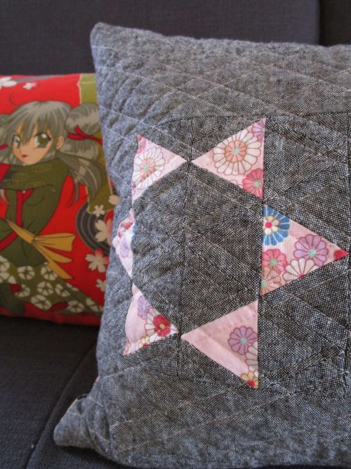 sewkatiedid:throwing star pillow