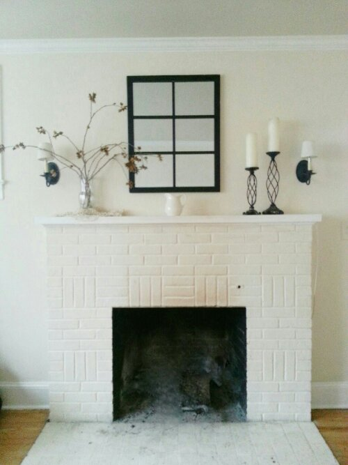 white mantel by sew.knit.create