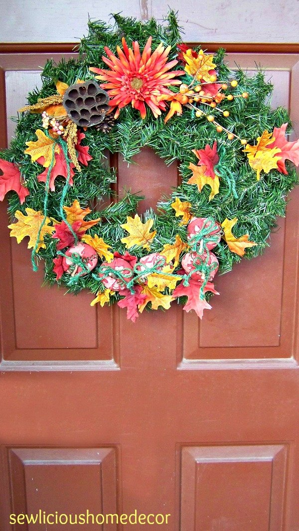 Fall pumpkin tutorial wreath