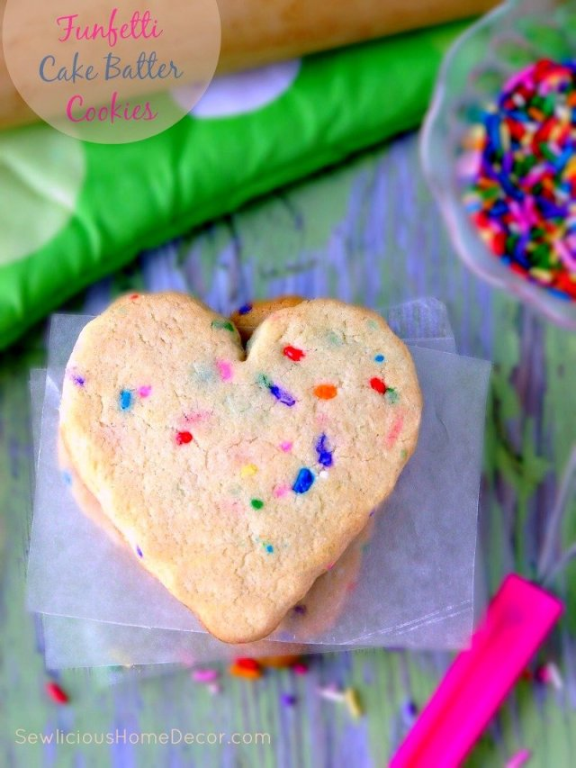 Funfetti Cake Batter Cookies at sewlicioushomedecor.com