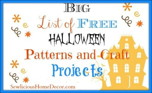 Big list of Halloween Patterns and Craft Projects