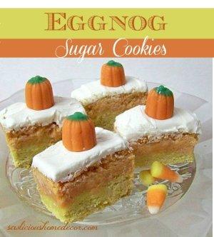 Candy Corn Egg Nog Sugar Cookies