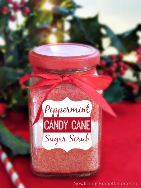 Peppermint Candy Cane Sugar Scrub at sewlicioushomedecor