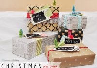 chalkboard paint gift tags