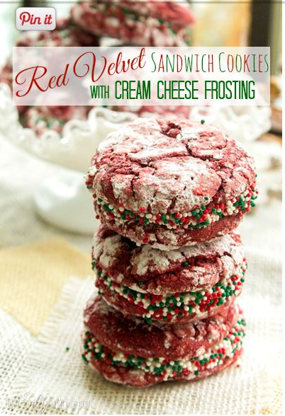 Red Velvet Cookies with Cream Cheese