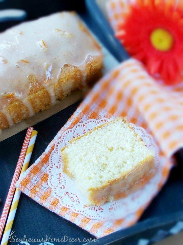 Best Orange Pound Cake by sewlicioushomedecor.com