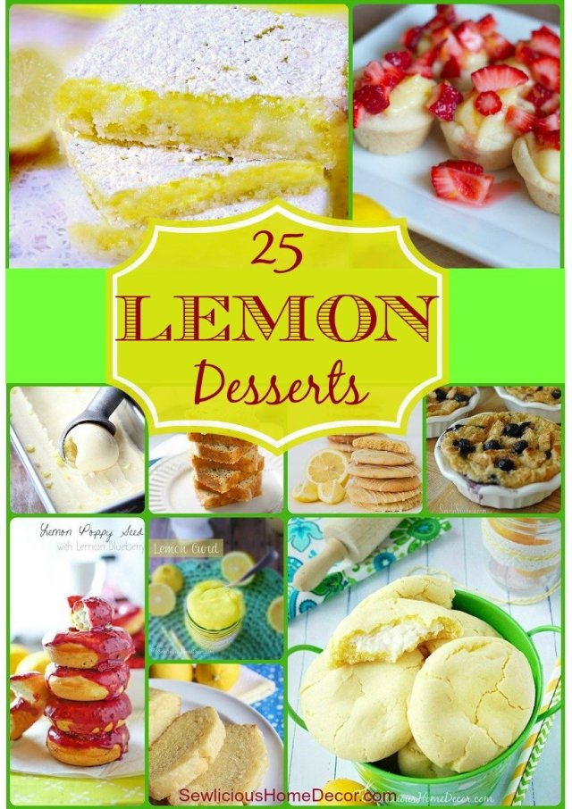 25 Best Lemon Recipes