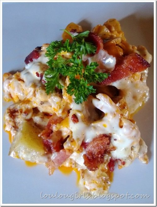 Hot Wing chicken casserole