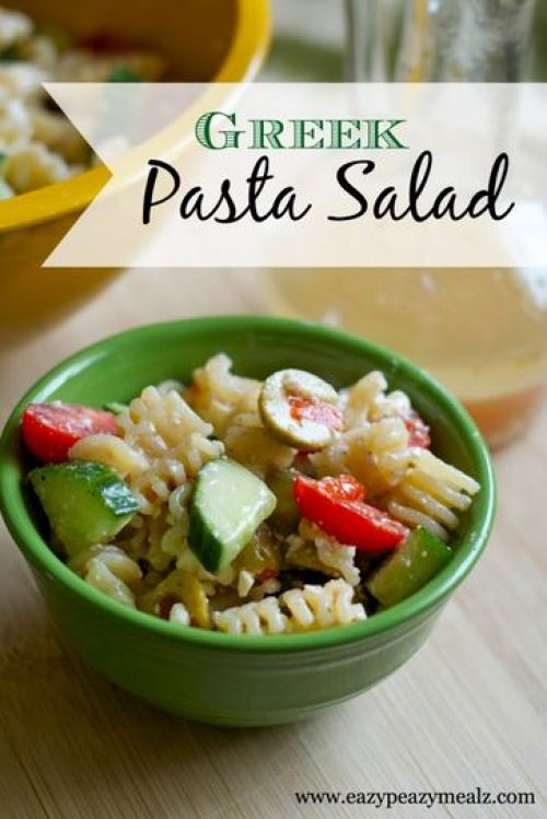 greek pasta salad dish