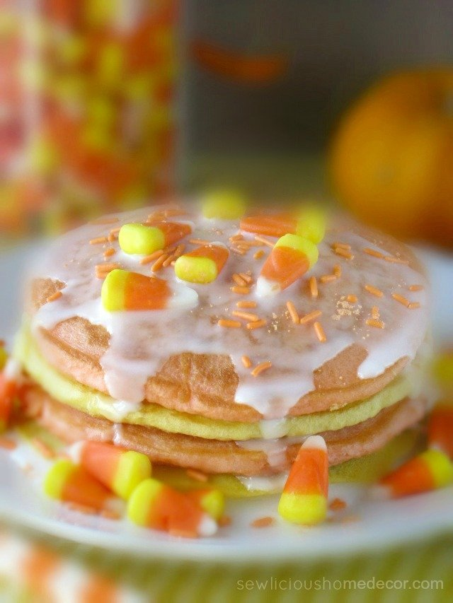 Halloween Buttermilk Candy Corn Pancakes