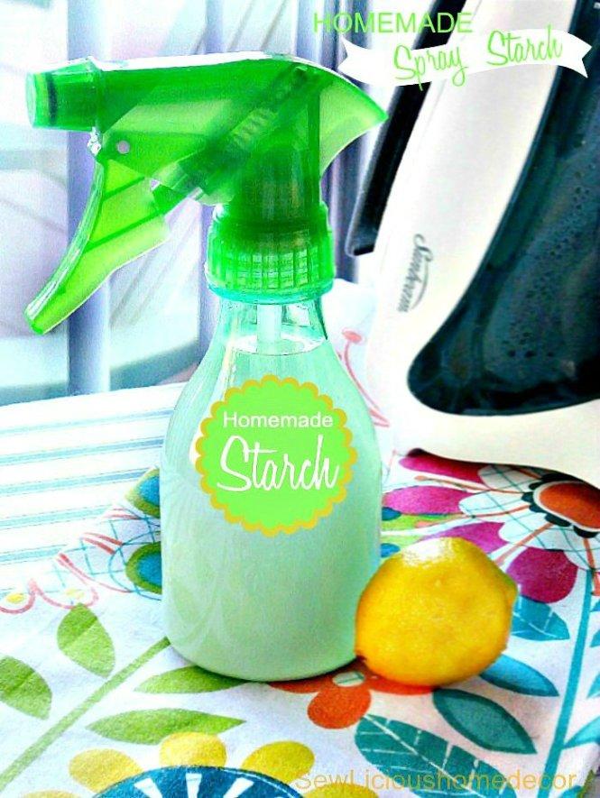 Best DIY Homemade Spray Starch Recipe at sewlicioushomedecor.com