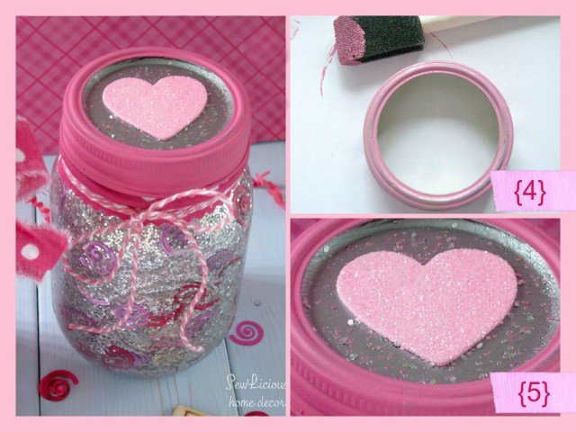 Confetti and glitter mason jar tutorial 2a at sewlicioushomedecor