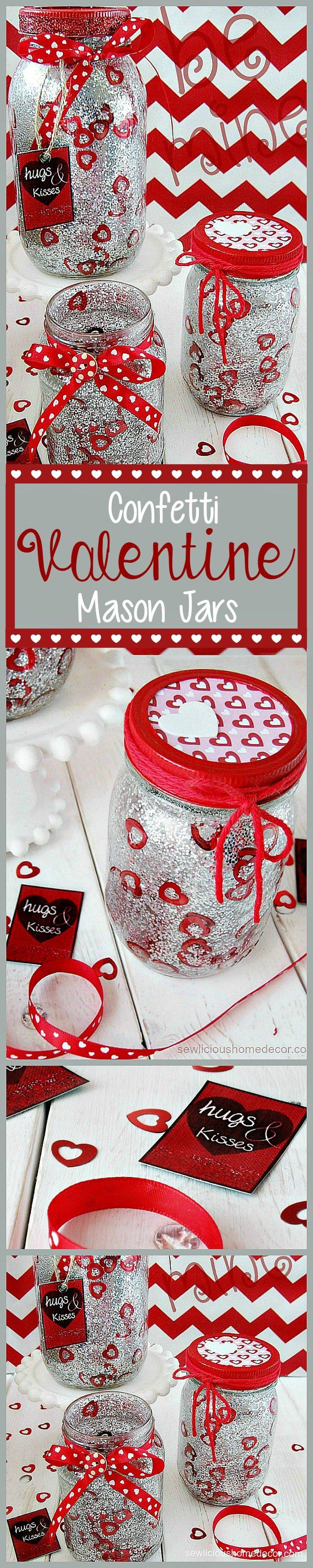 Confetti Mason Jars sewlicioushomedecor