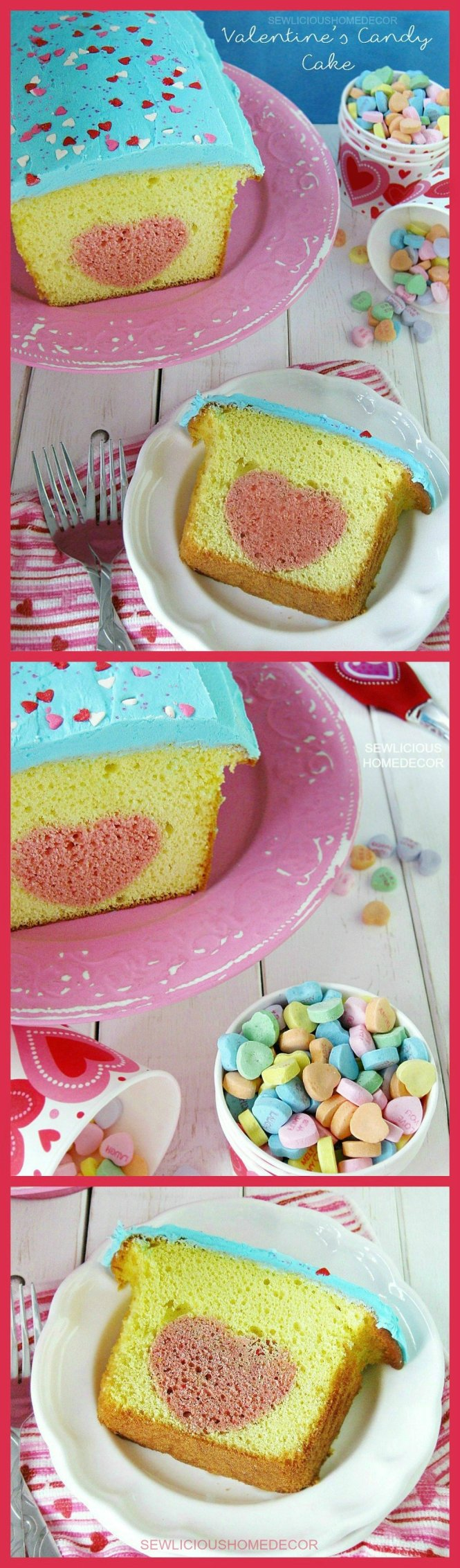 Lemon Valentines Day Heart Candy Cake sewlicioushomedecor.com