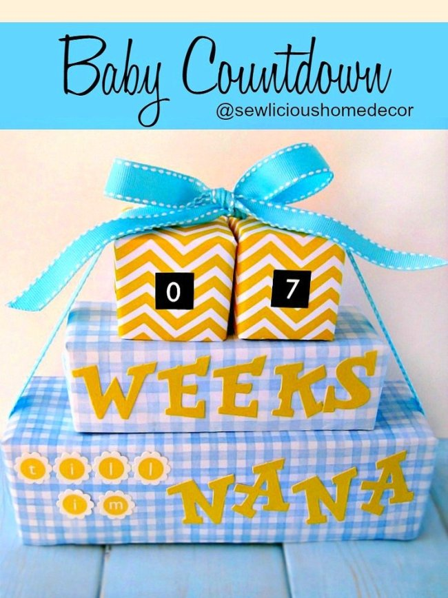 A Grandparents and Parents New Baby Arrival Countdown sewlicioushomedecor