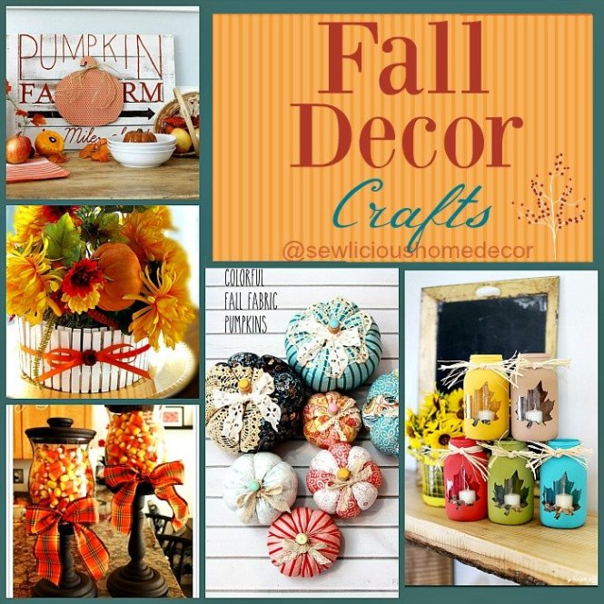 Fall Decor Crafts sewlicioushomedecor.com