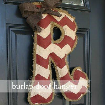 burlap letter