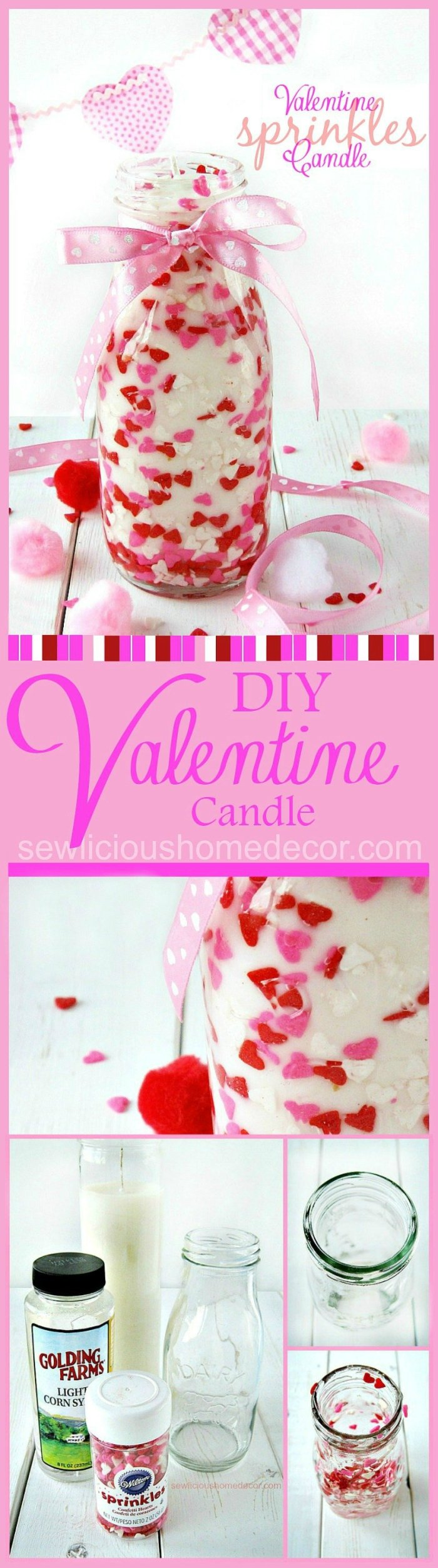Valentine Sprinkles Candle Tutorial atsewlicioushomedecor.com