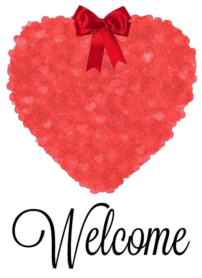 Hot Pine Welcome Heart Valentine Printable