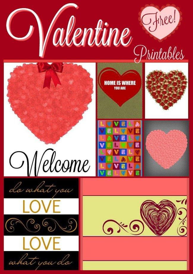 Valentine Free Printables Roundup at sewlicioushomedecor.com