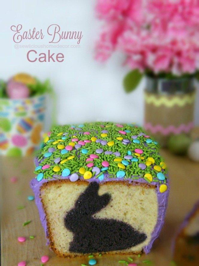 Easter Bunny Cake sewlicioushomedecor.com