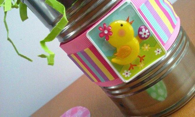 Easter Tin Cans sewlicioushomedecor.com