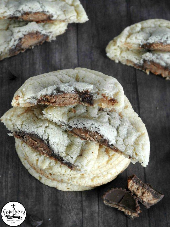 Reese's-stuffed-in-pillsbury-sugar-cookies. sewlicioushomedecor.com