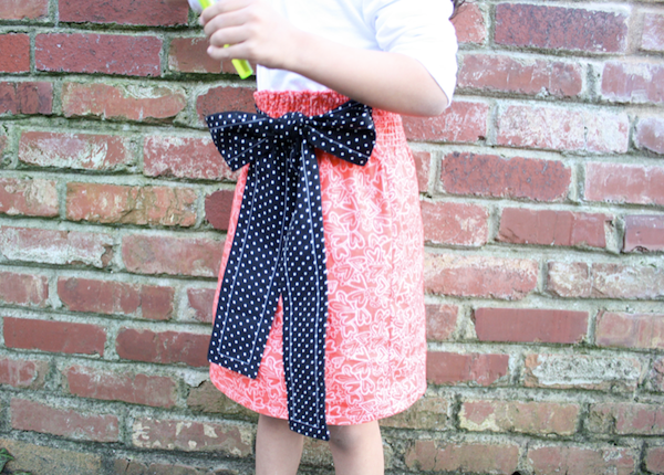 Sew Like My Mom | Shirred Paperbag-style Skirt