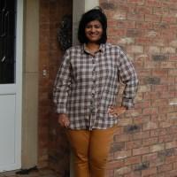 Jalie 3461 Eleonore Pull On Jeans: DIY Mustard Jeggings